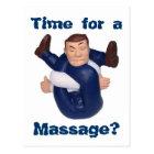 Time for a Massage? postcard I