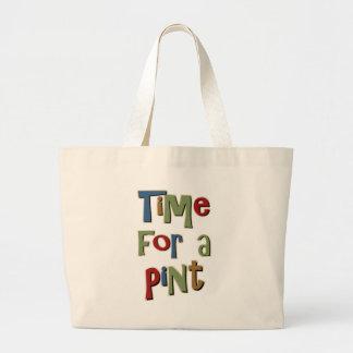 Time For A Pint Jumbo Tote Bag
