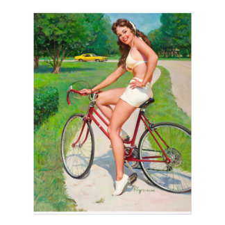 Time for a Ride - Retro Pin-up Girl Flyer