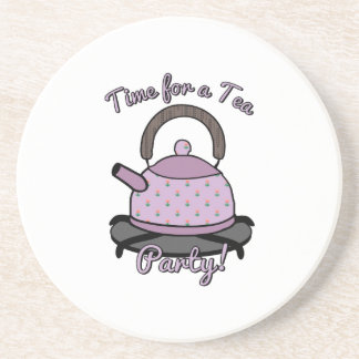 Time For A Tea Party Beverage Coaster