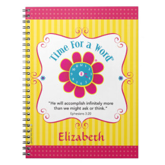 """Time for a Word®"" personalized notebook"
