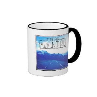 Time For Adventure Ringer Mug