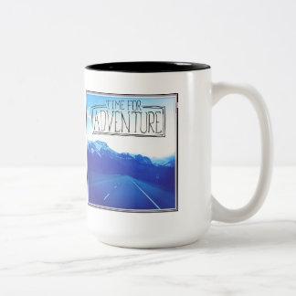 Time For Adventure Two-Tone Mug