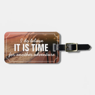 Time For Another Adventure | Personalized Beachy Luggage Tag