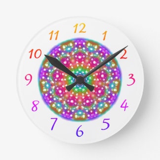 Time for Color Round Clock