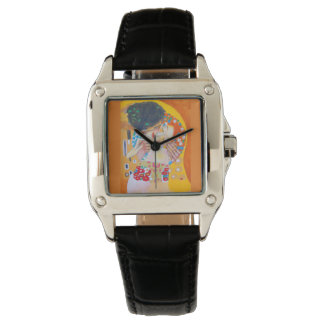 Time For Love Women's Wrist Watch Klimt's The Kiss
