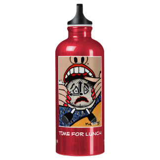 Time For Lunch - Red - Time Pieces Water Bottle