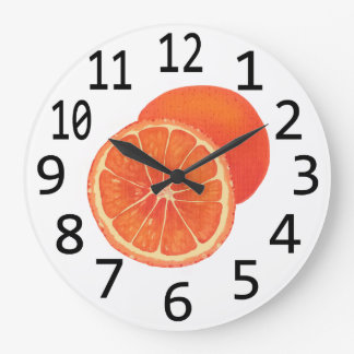 Time for Oranges Orange Fruit Wall Clocks