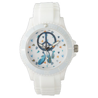 Time for peace wrist watch