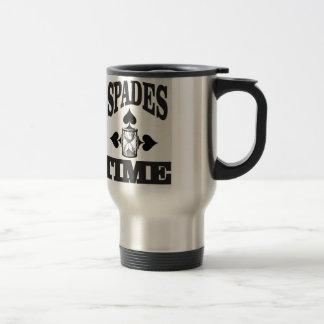 time for spades yeah travel mug