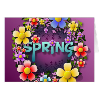 Time for Spring greeting card