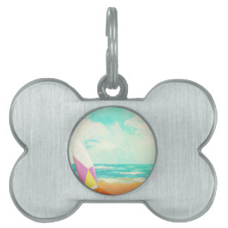 Time for surfing! pet name tag