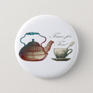 Time for Tea 6 Cm Round Badge