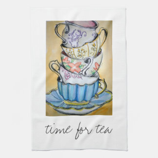 time for tea hand towels