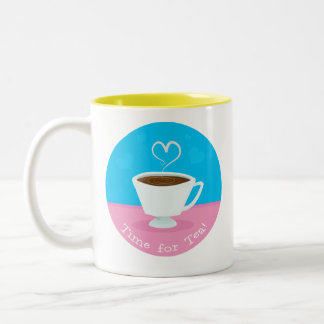 Time for Tea heart teacup Mugs