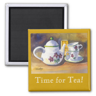 Time for Tea! Square Magnet