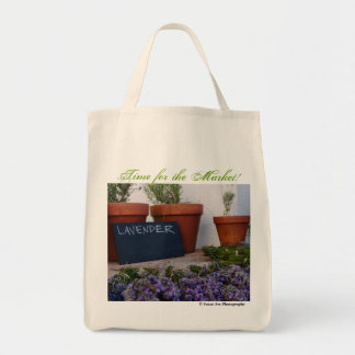 Time for the Market - Organic Grocery Tote Grocery Tote Bag