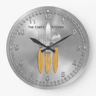Time for the Master Chef in You (Personalised) Large Clock