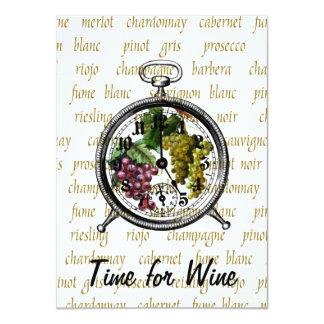 """Time for Wine"" Grapes Invitation"