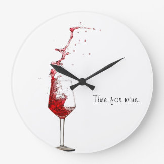 Time For Wine Large Clock