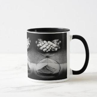 """""""Time"""" hourglass surreal drawing Mugs"""