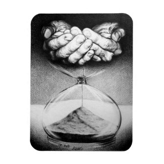 """Time"" hourglass surreal drawing Photo Magnet"