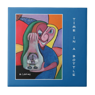 Time In A Bottle -  Blue  - Time Pieces Tile