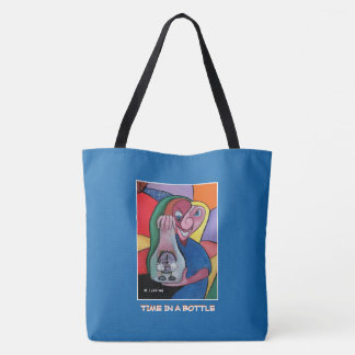 Time In A Bottle  - Blue  - Time Pieces Tote Bag