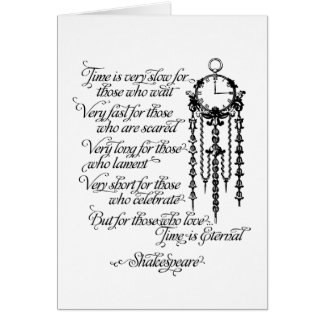 Time is Eternal Greeting Card