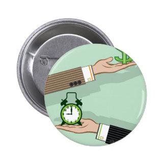 Time is Money 6 Cm Round Badge