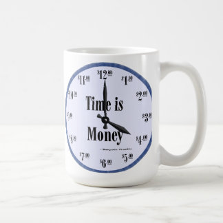 Time is Money - Mug Blue Clock Face