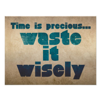 Time is precious...Waste it wisely Poster