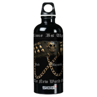 Time is Up For The New World Order -Water Bottle