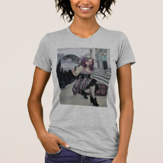 time keeps ticking steampunk faery t-shirt