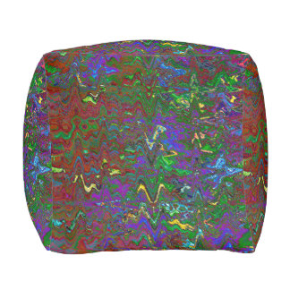 TIME LOST IN SPACE IN THE FIFTH UNIVERSE CUBE POUFFE