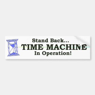 Time Machine Bumper Stickers