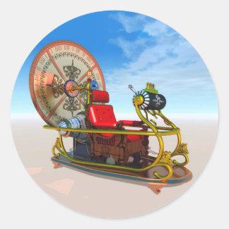Time Machine Classic Round Sticker