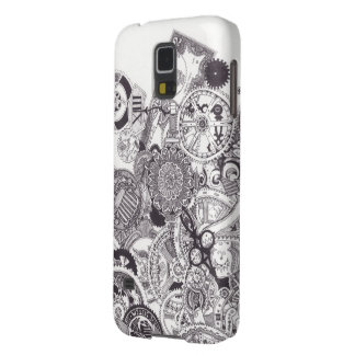 Time & Money - Black & White Steampunk Cases For Galaxy S5