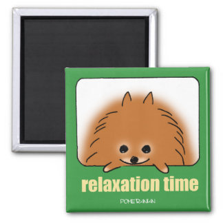 Time of relaxing square magnet