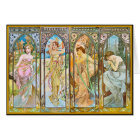 Time of the Day, Alphonse Mucha Card