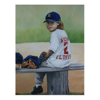 """Time on the Bench"" Reproduction Art Post Card"