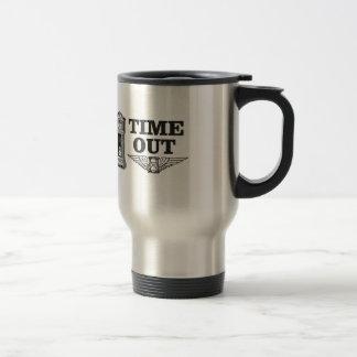 time out clock travel mug