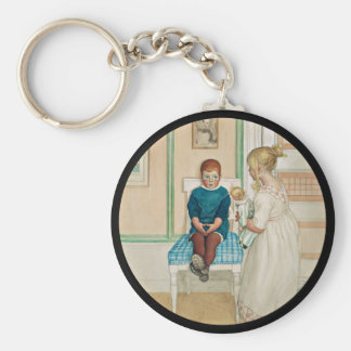 Time Out in the Corner Basic Round Button Key Ring