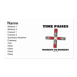 Time Passes Moment To Moment (Physics) Double-Sided Standard Business Cards (Pack Of 100)