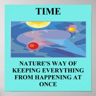 time physics joke posters