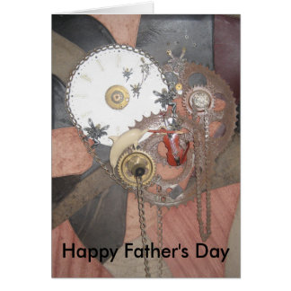 Time Piece on Leather greeting card