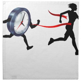 Time Pressure Concept Napkin