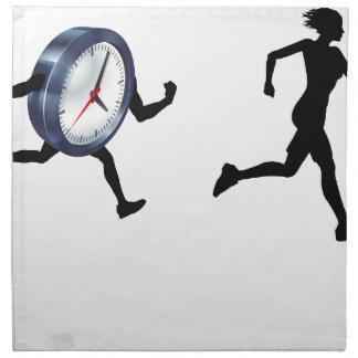 Time Pressure Sress Concept Napkin