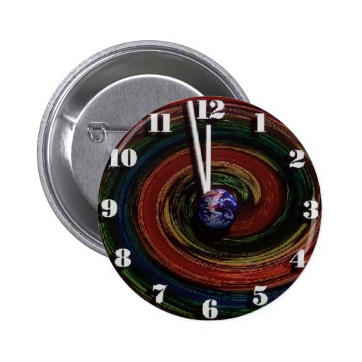 Time Running Out Pinback Buttons