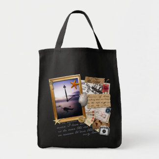 """""""Time"""" Scrapbook/Collage Tote Bag"""